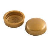 Snapcaps Screw Covers & Flat Bottom Washers Brass 6/8 Gloss - Pack of 25