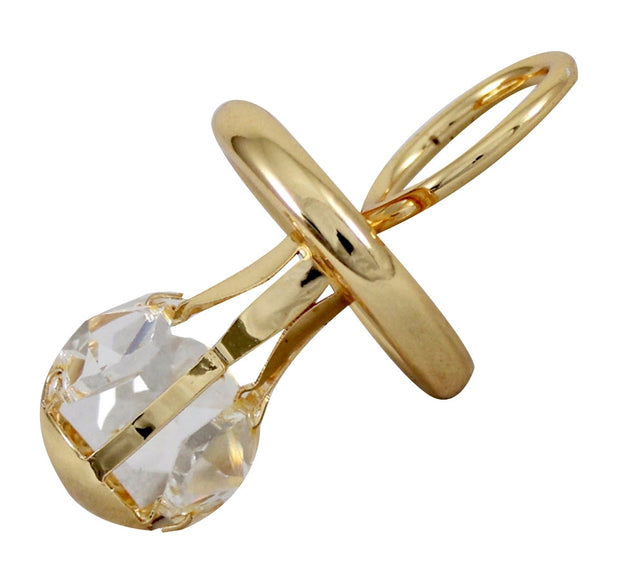 Golden Plated Crystal Pacifier Display 11 cm