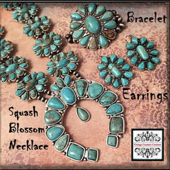 Squash Blossom Necklace- Turquoise