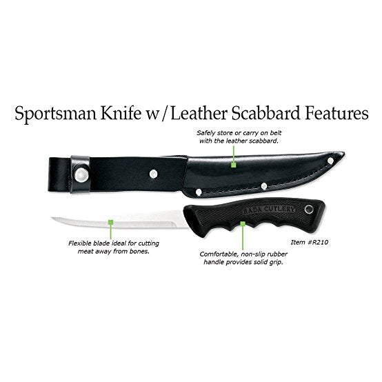 Rada Cutlery Sportsman Knife With Scabbard