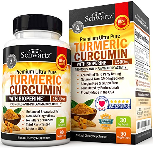 Turmeric Curcumin with Bioperine 1500mg - Vintage Country Couture