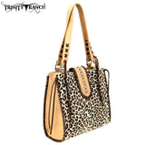 Leopard Print Cow-Hide Tote Bag- Trinity Ranch