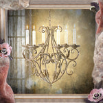 Shabby Chic Candle Chandelier - Hanging Candle Holder