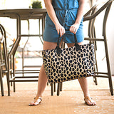 Leopard Print Side Tote