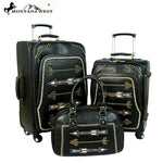 Montana West Arrow Collection 3 PC Luggage Set - Vintage Country Couture