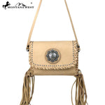 Montana West 100% Leather Handbag - Tan