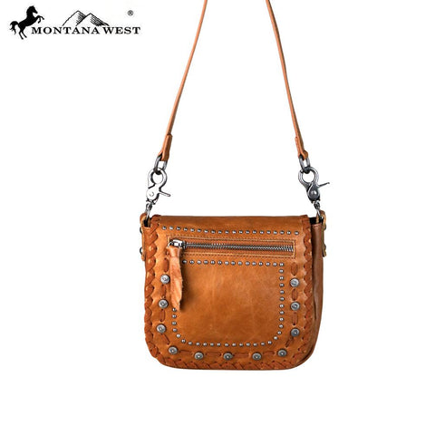 Montana West Leather Brown Crossbody - Vintage Country Couture