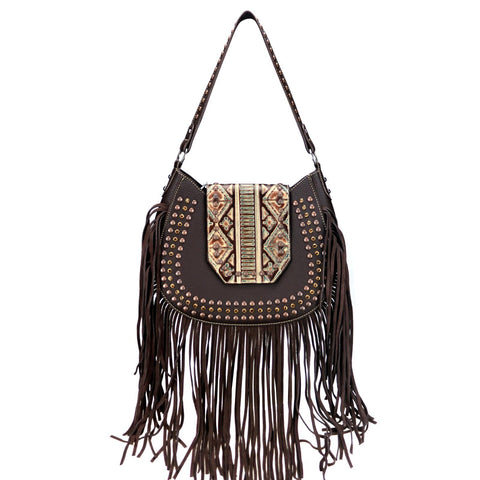 Fringe Hobo Handbag- Trinity Ranch