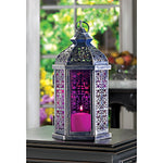 Amethyst Stained Glass Lantern
