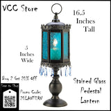 Stained Glass Pedestal Lantern