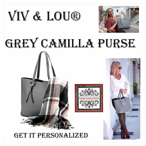 Camilla Tote Purse Viv & Lou®, Monogram Purse, Personalized Purse, Monogram Tote