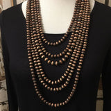 Copper Navajo Bead Necklace - Vintage Country Couture