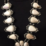 Squash Blossom Necklace - White Turquoise