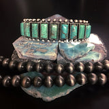 Natural Turquoise Cuff Bracelet - Navajo Style