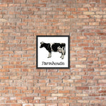 Farmhouse Cow Framed Poster