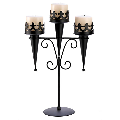 Torch Style Triple Candle Holder