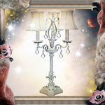 Shabby Chic Chandelier Table Lamp