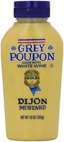 Grey Poupon Dijon Mustard, 10 ounce Bottle