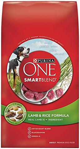 Purina ONE SmartBlend Dry Dog Food, Lamb and Rice Formula, 8 Pound
