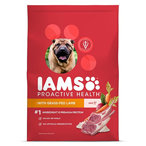 Iams ProActive Health Dry Dog Food for All Dogs – Lamb and Rice, 30 Pound Bag