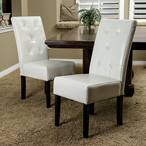 Alexander Ivory Bonded Leather Dining Chair