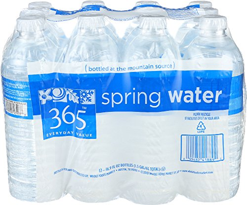 365 Everyday Value, Spring Water Flat Cap, 16.9 Fl Oz, 12 Count