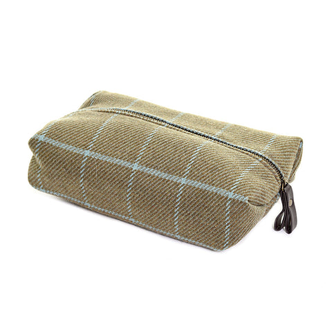 Wash Bag in Tweed