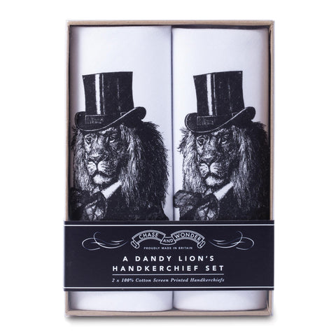 A Dandy Lion's Handkerchief Set