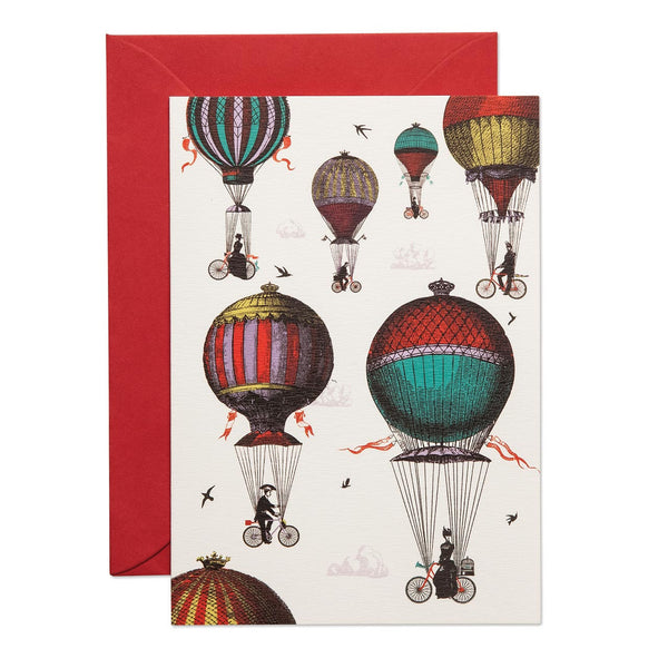 They Ride Above It Greeting Card