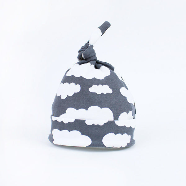 Grey Cloud Baby Hat