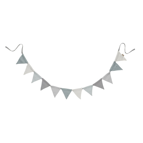 Mint Grey mix Bunting Flags