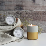 Gold Dipped Concrete Soy Wax Candle