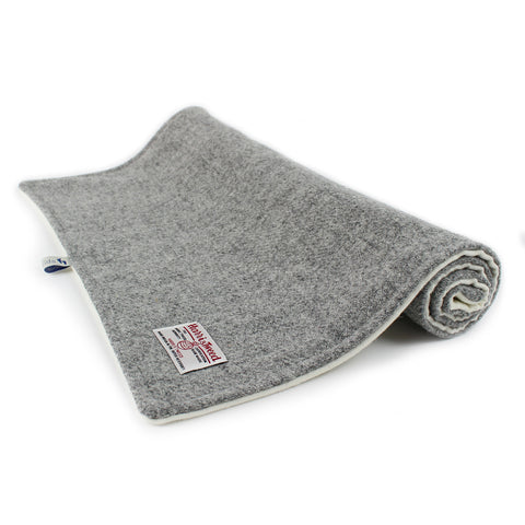 Harris Tweed Grey Wool Pram Blanket