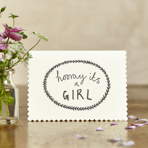 Hooray It's A Girl Card
