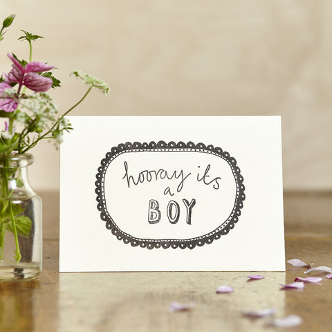 Hooray It's A Boy Card