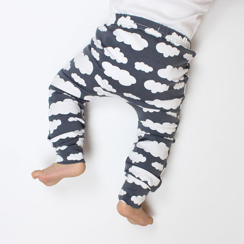Grey Cloud Baby Leggings