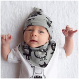 Grey Monsters Baby Hat