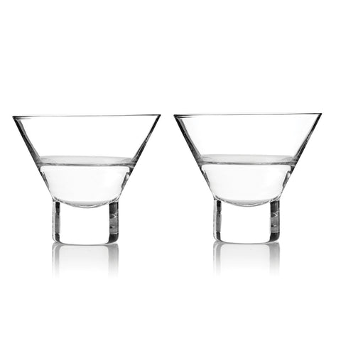 Raye Stemless Martini Glasses