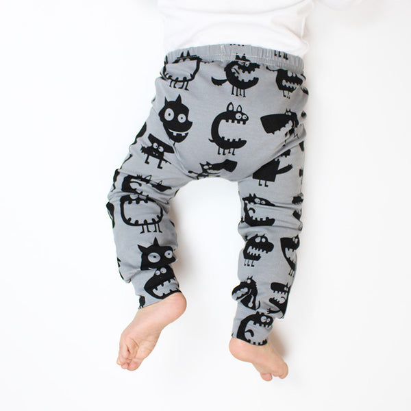 Grey Monster Baby Leggings 0-3 months