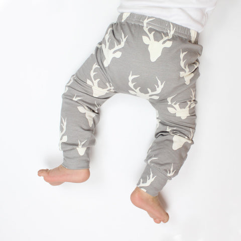 Grey Stag Baby Leggings