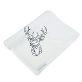 Screen Printed Stag Muslin