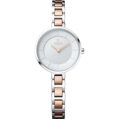 Obaku - Two Tone Rose Gold Plated - Ladies' Watch