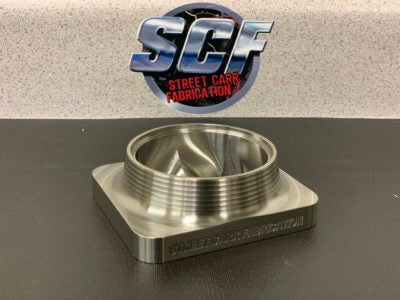 "Street Carr Fabrication Stainless Billet T4 Flange 3.50"" Single/Divided Inlet"