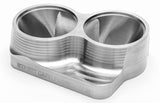 "Street Carr Fabrication Stainless Billet 2"" Dual/OPEN T4 Flange for Sch10 Piping"
