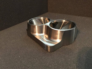 "Street Carr Fabrication Stainless Billet Dual 2.25""/OPEN Inlet T4 Flange"