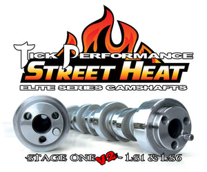 TICK PERFORMANCE STREET HEAT STAGE 1 V2 CAMSHAFT FOR LS1 & LS6 ENGINES