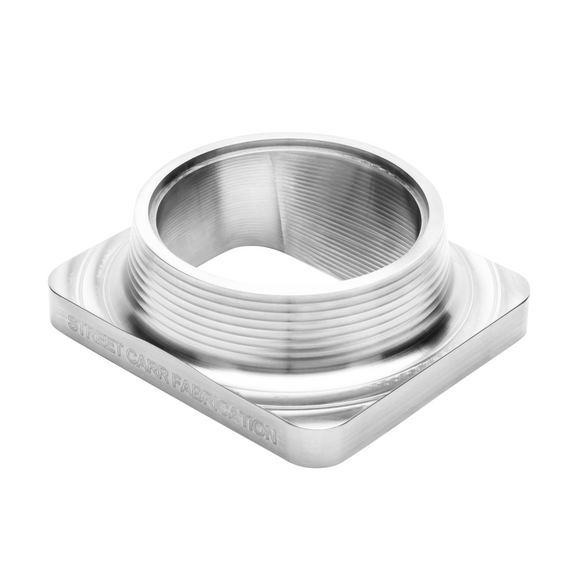 "Street Carr Fabrication Stainless Billet T6 Flange 3.50"" Single/Open Inlet"