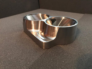 "Street Carr Fabrication Stainless Billet Dual 2.5""/OPEN Inlet T4 Flange"