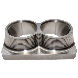 "Street Carr Fabrication Stainless Billet Dual 2.25"" Inlet T6 Flange"