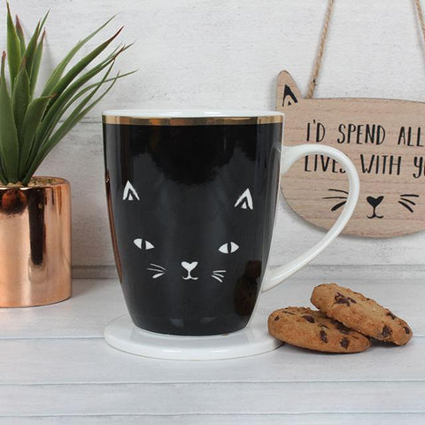 Crazy Cat Lady Mug & Coaster Gift Set
